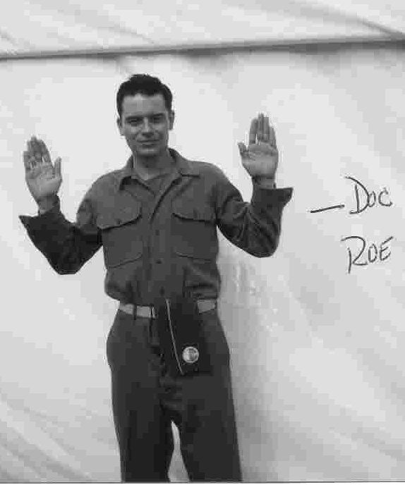 """The real life Eugene """"Doc"""" Roe. He was portrayed by Shane Taylor in Band of Brothers."""