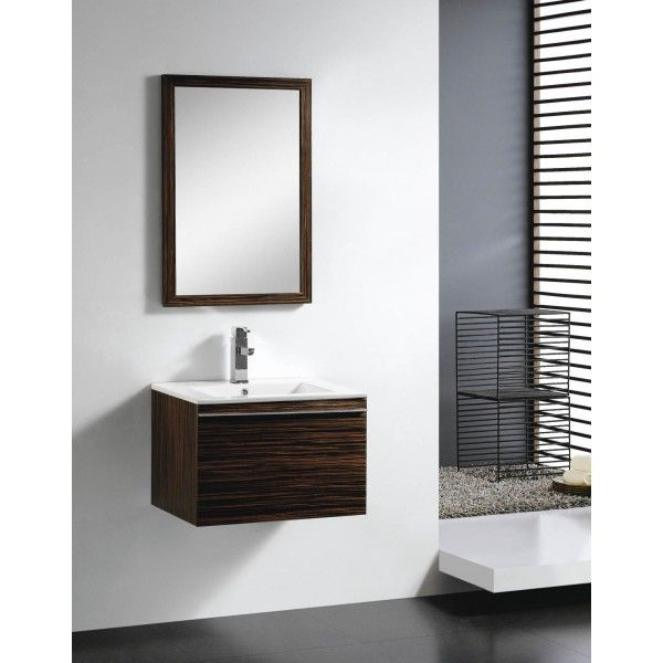 Moderna With Drawer | Best Value Bathroom Furniture in Ireland.  Minimalist wall hung vanity with soft close drawer.  Perfect for a small to medium sized bathroom.      Measurements  Description:  Dimension (MM): Main Cabinet610*470*420 Mirror550*20*800