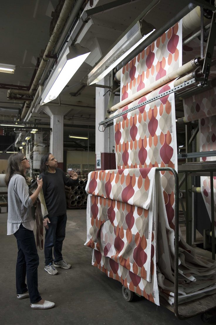 Discussions about the colors in production of design Malaga by Mona Björk.