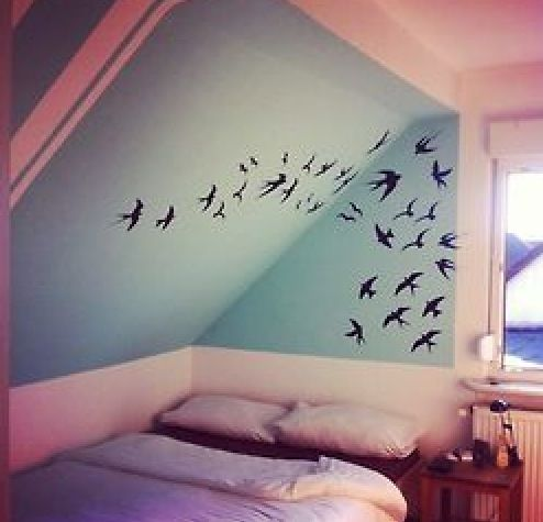 I've been thinking about getting wall stickers like that!