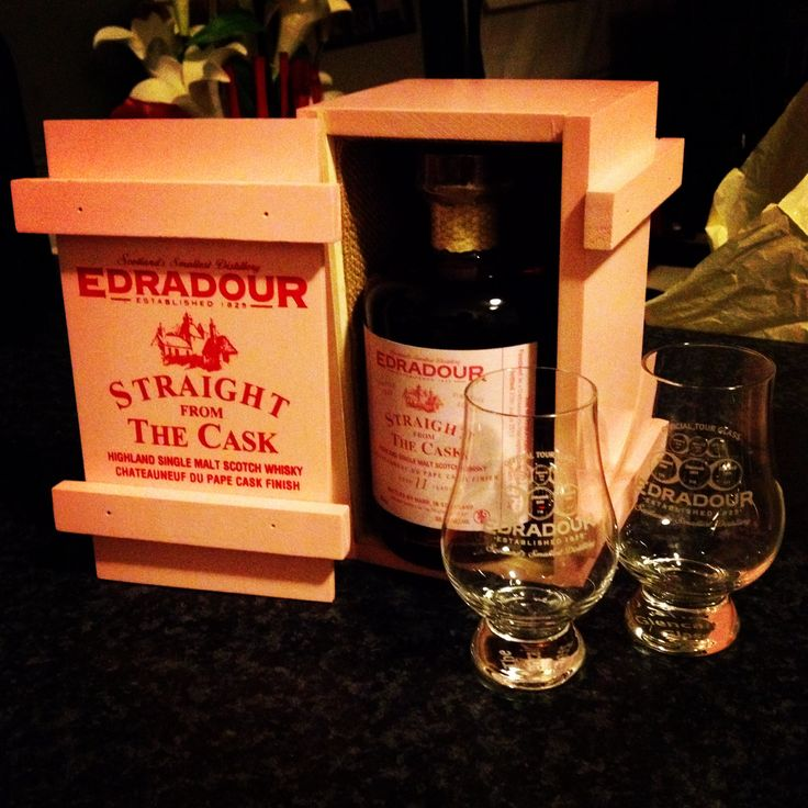 Edradour 2002, 11 years aged whiskey hand crafted without automation  from the smallest whiskey distillery in Scotland. Maybe the smallest in the world.