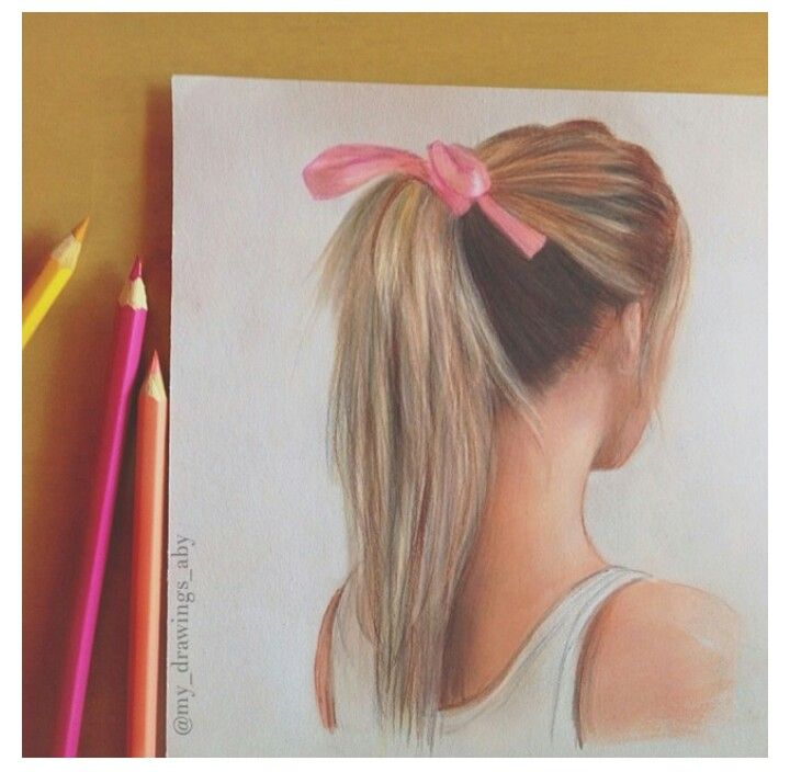 Ponytail hair drawing... Cool draw... Hahaha I want to try this draw...!!!!!!!!