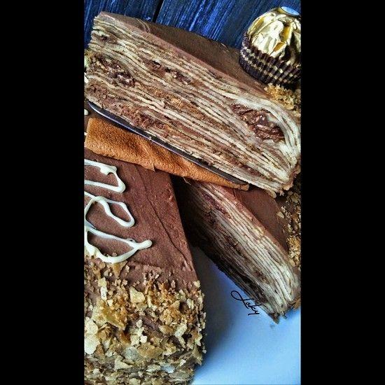 Gâteau de crêpes au Ferrero