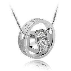 Forever Love Heart Shape Charm Pendant Necklace Fashion Jewelery