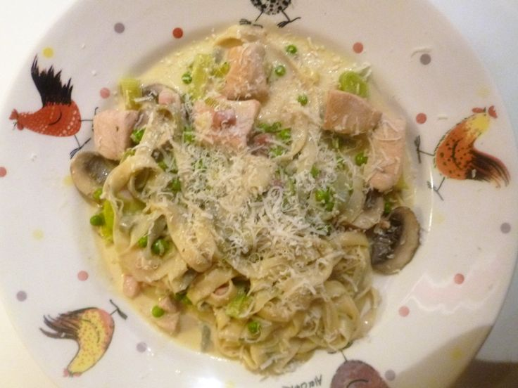 Creamy Chicken, Pancetta, Mushroom's and Peas's with Fresh Sage Pasta Recipe