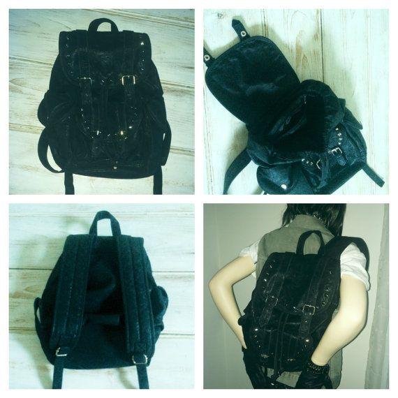 Lisbeth Genuine Leather Backpack Leather Backpack Studded Backpack Black Leather Backpack