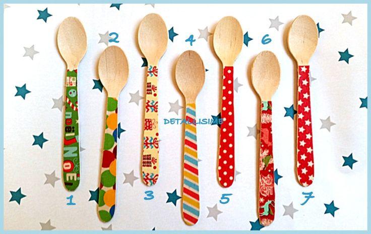 Cucharitas de madera, especial Navidad (11 cms).. pedidos y catálogo: detallisime@yahoo.es
