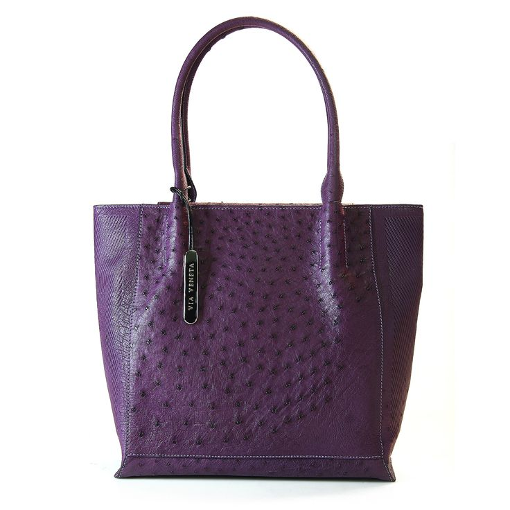 genuine South African ostrich leather - Via Veneta handbag