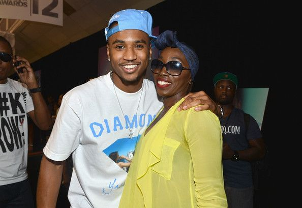 Trey Songz (L) and singer Estelle attend day 1 of the 2012 BET Awards Radio Room held at The Shrine Auditorium on June 29, 2012 in Los Angeles, California. - 2012 BET Awards - Radio Room - Day 1