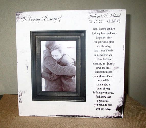 In Loving Memory Personalized Dad Wedding Picture Frame Wood box In Loving Memory Sign Picture Frame Wedding Memory Father of the Bride