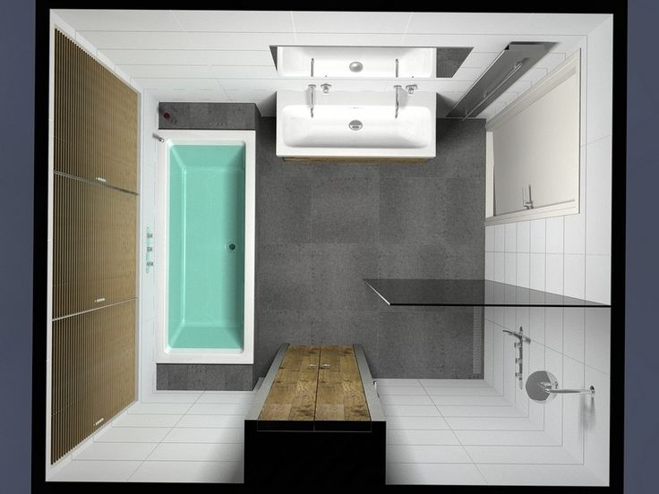 ideeën kleine badkamer - klein ontwerp ideeën wasbak wegdenken, lange kast = wasbak, en glazen douchewand verticaal ipv horizontaal