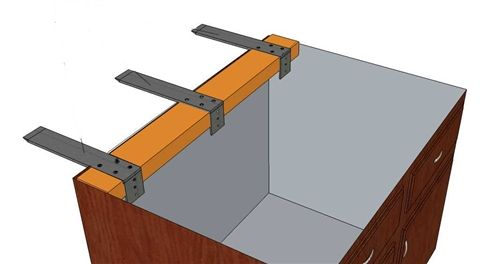 Hidden countertop brackets google search bdcs for How to support granite countertop overhang