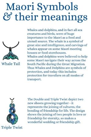 Maori symbols and their meanings. An info-graphic on what traditional carved symbols mean. Click on the image for the full info-graphic.