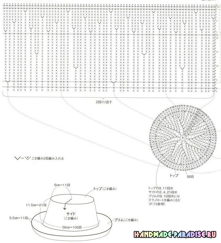 летние шляпки крючком схемы Gorros A Crochet вязание шляп