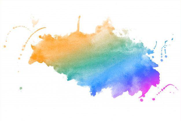 虹色の水彩汚れテクスチャ背景デザインを無料でダウンロード Diseños De Fondo Manchas De Pintura Vector Mancha De Acuarela