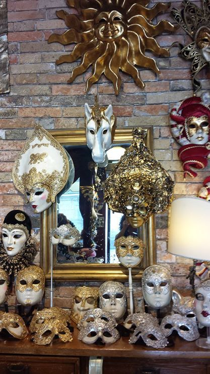 here it is a glipse of one of our store in Venice, the one near Frari's church. In our stores you can easily find handmade Venitian masks, you can buy them also in our web site www.marega.it