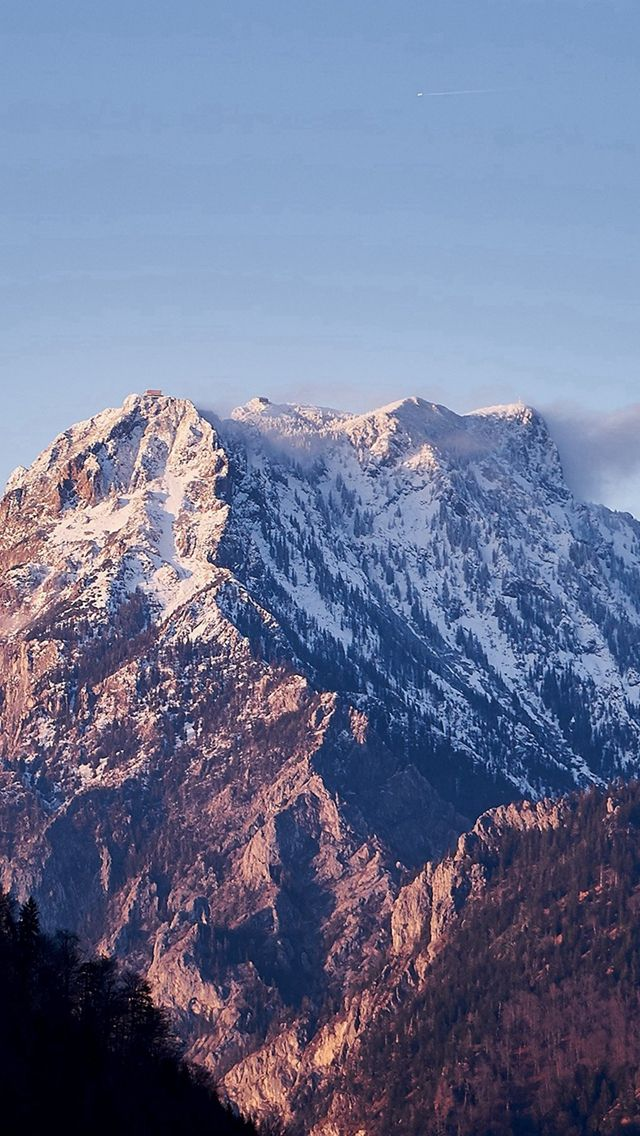 Avalanche Snow Mountain Winter Wood Nature #iPhone #5s #wallpaper