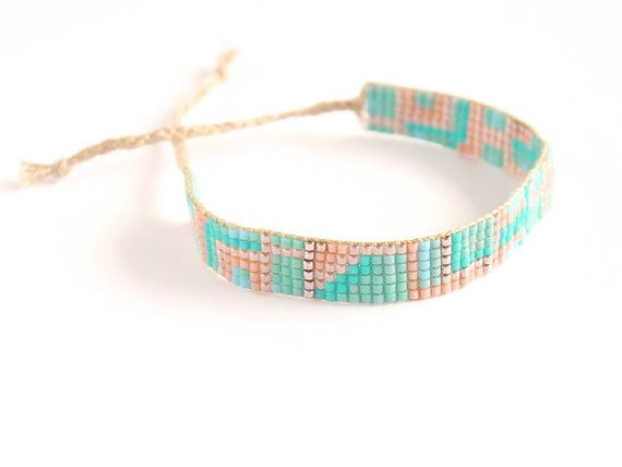 A little like your old-school friendship bracelet, but elevated to elegant through the use of delicate, colourful beads. Great arm candy, whether