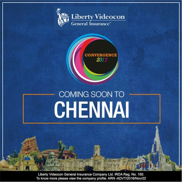 Get together with us at #Convergence2017 – Chennai! To know more details, stay tuned! #libertyvideocon