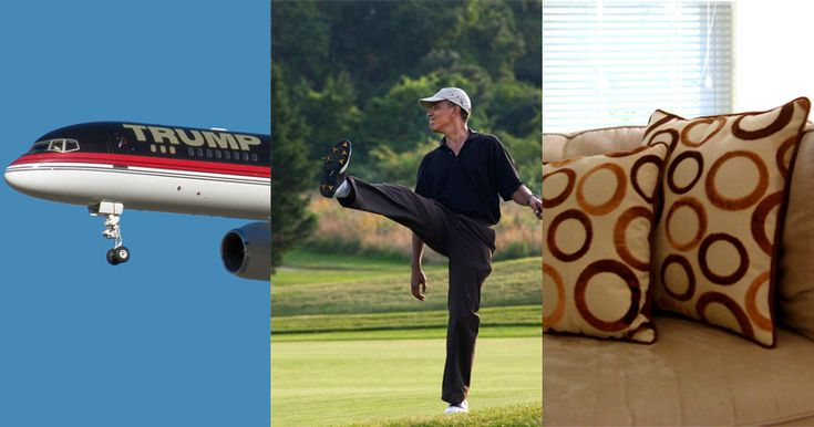 LOUISIANA FLOODS: TRUMP VISITS, OBAMA GOLFS, HILLARY SLEEPS Obama spends more time on golf course, despite Trump owning several