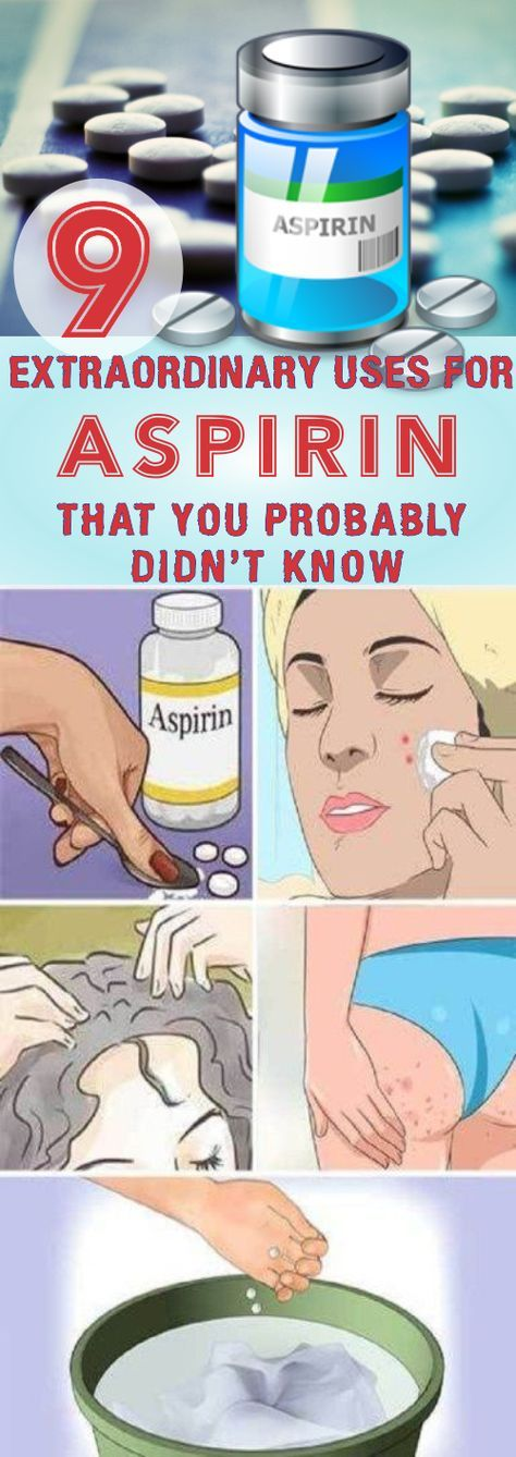 9 Extraordinary Uses For Aspirin That You Probably Didn't Know #aspirin #remedies  #homeremedies  #health #skincare