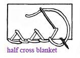 half cross blanket stitch