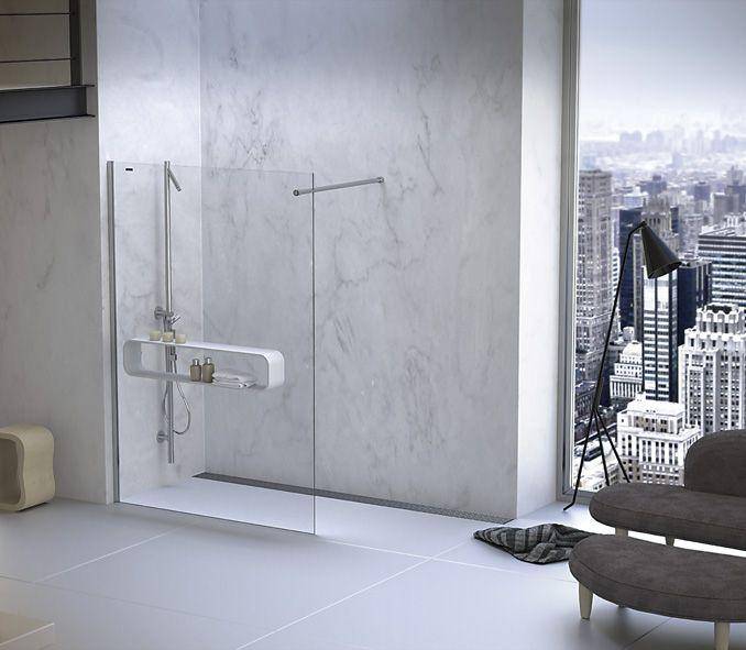 Mamparas ducha y baño Duscholux - DUSCHOFREE WAVE VERSION PARED ®