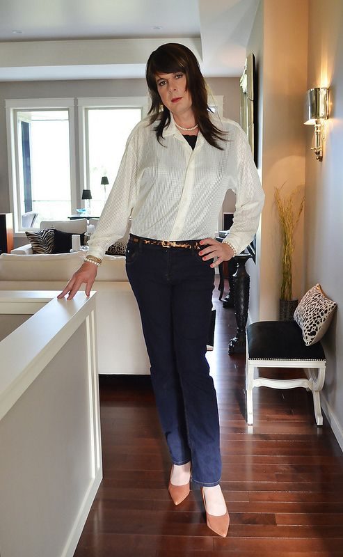 Skinny Jeans & Satin Blouse | Flickr - Photo Sharing! | A ...