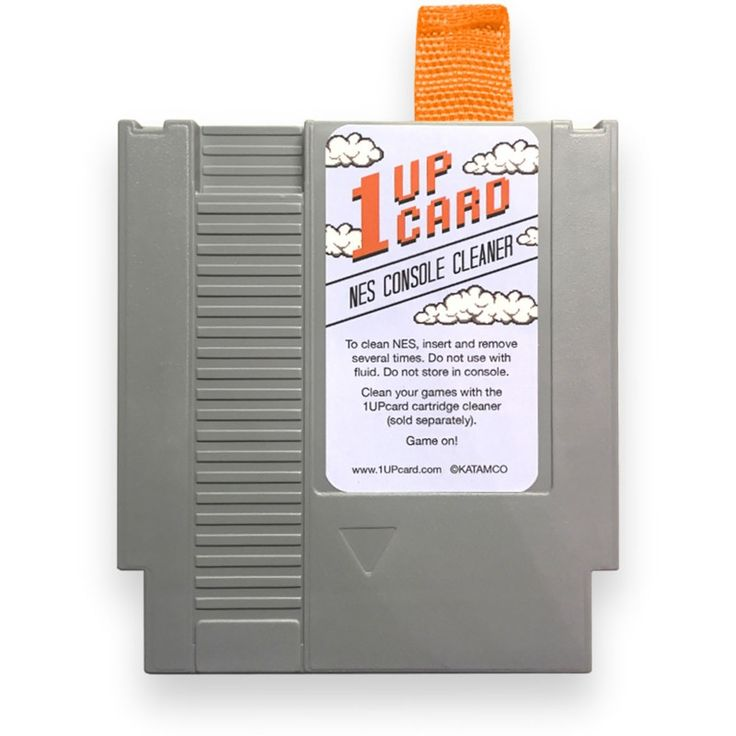 Original Nintendo Console & System Cleaner  https://www.retrogamingstores.com/gaming-accessories/original-nintendo-console-system-cleaner  Game on with the 1UPcard NES cleaning kit.