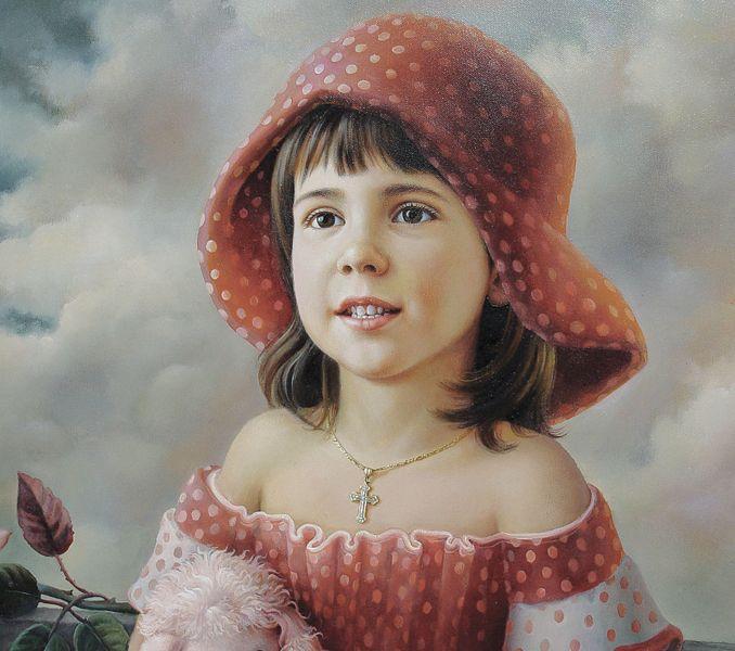 Portrait of Nia / 2008 / 90 cm / оil on canvas (detail)