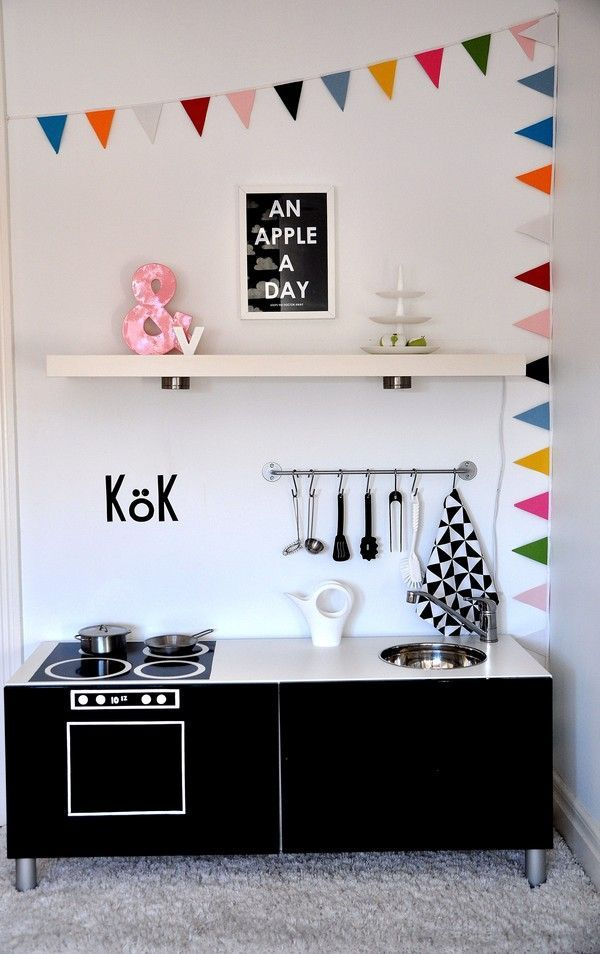 ikea hack best unit turned into a mini play kitchen ikea hacks pinterest ikea units. Black Bedroom Furniture Sets. Home Design Ideas