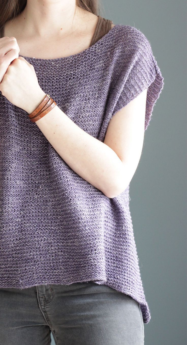 """Yes! This is going straight to my """"must knit"""" list. Jessie's Girl by Elizabeth Smith - what a lovely spring top! Simplicity at its best."""