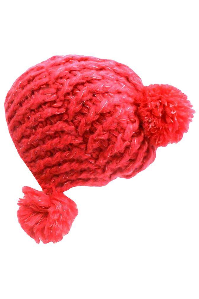 Soft Knit Triple Pom-Pom Beanie Hat – Luxury Divas