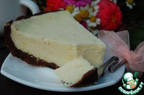 Творожный пирог с шоколадным тестом в мультиварке - кулинарный рецепт