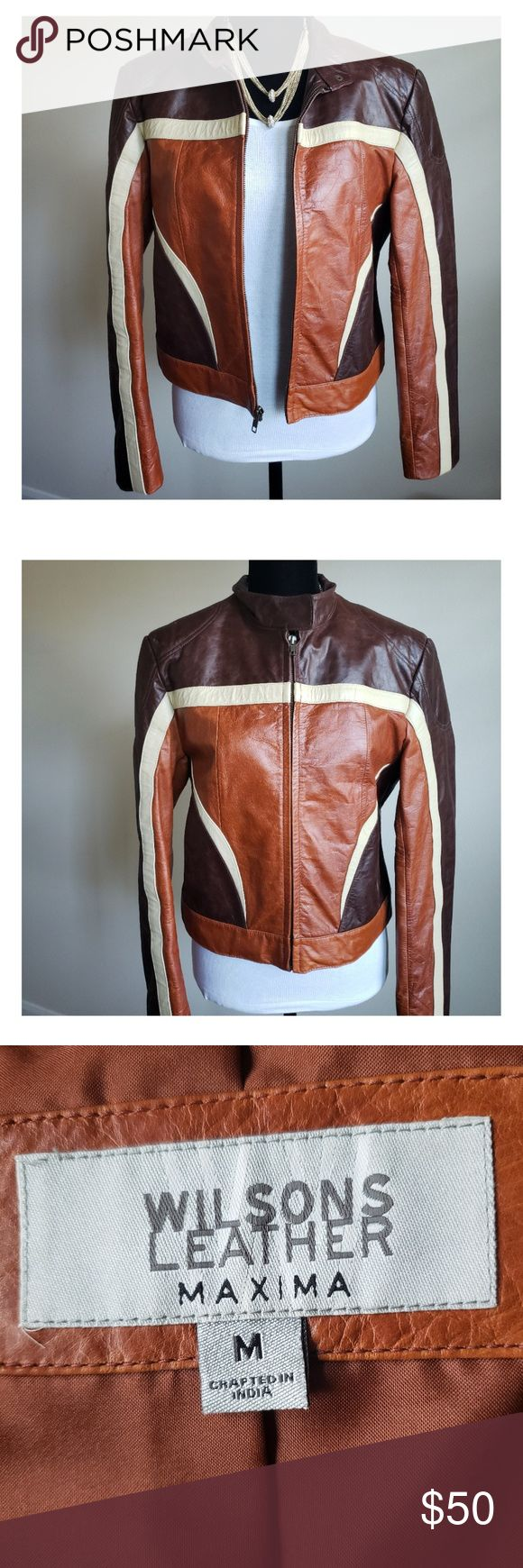 Wilsons Leather Brown MAXIMA Jacket Wilsons leather