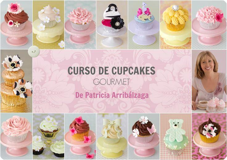 CURSO ONLINE DE CUPCAKES GOURMET de Patricia Arribálzaga, con vídeos de varias horas de duración y recetas. Ya disponible en: http://www.cakeshautecouture.com/cursos/