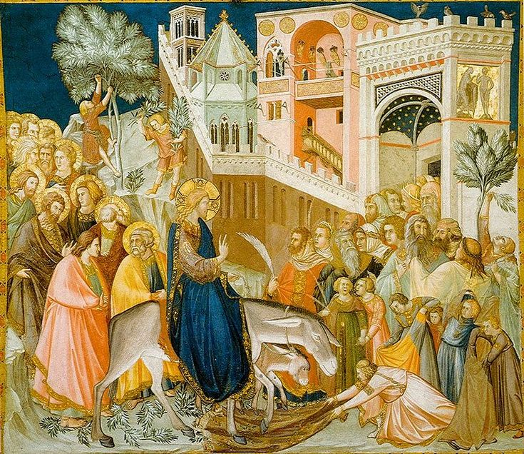 Assisi-frescoes-entry-into-jerusalem-pietro lorenzetti - Triumphal entry into…