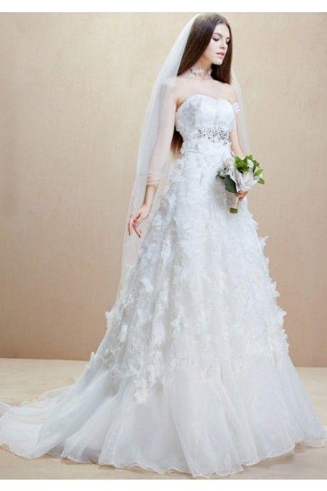 ウェディングドレス ビスチェ  結婚式 2次会 服装 Halz0024