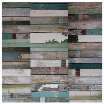 Scrapwood Wallpaper by Studio Ditte (green/blue) / would look great in Angus's room