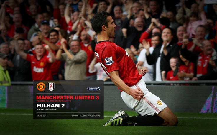 First goal for Manchester United, Good goal by RvP!