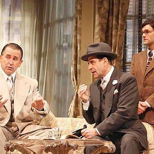 Anthony LaPaglia (from left), Tony Shalhoub and Justin Bartha deftly handle the crazy plot.