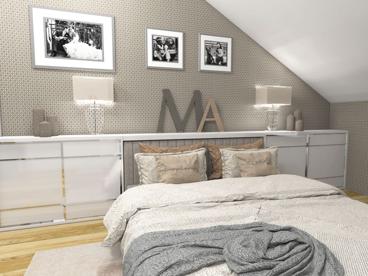 Modern and romantic bedroom.