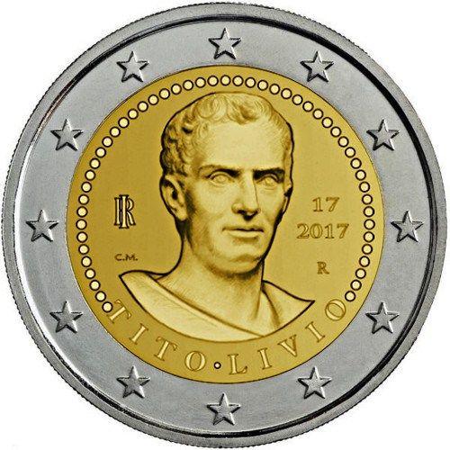 Moneda Conmemorativa Italia 2 € año 2017 Asunto: Bimilenario de la muerte de Tito Livio