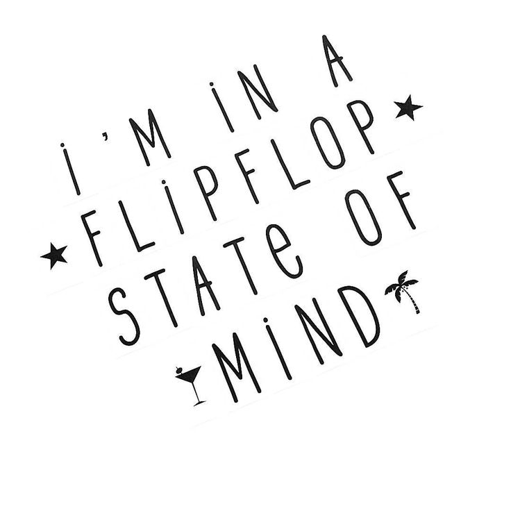 I'm in a flipflop state of mind