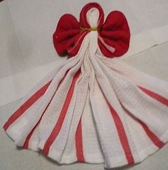 Make a Kitchen Towel Angel: Kitchens Angel, Angel Options, Towels Angel, Angel Reminder, Angel Collection