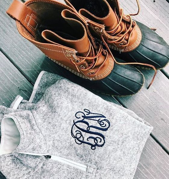 Monogrammed Fitted Heathered Pullover is the PERFECT accessory for your favorite pair of boots!