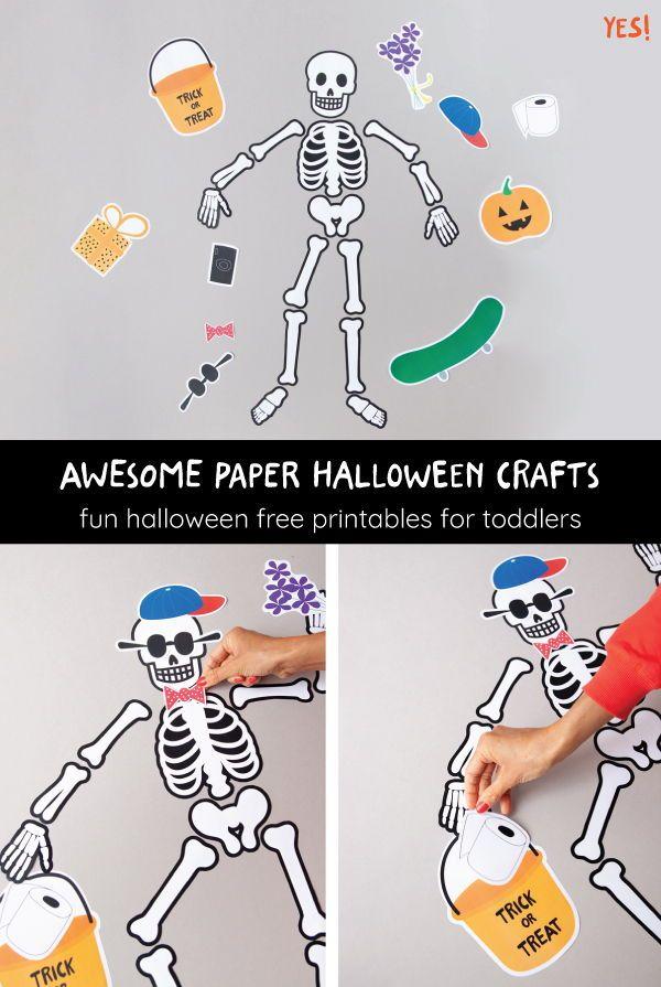 Paper Skeleton Kids' Halloween Decoration | Halloween ...