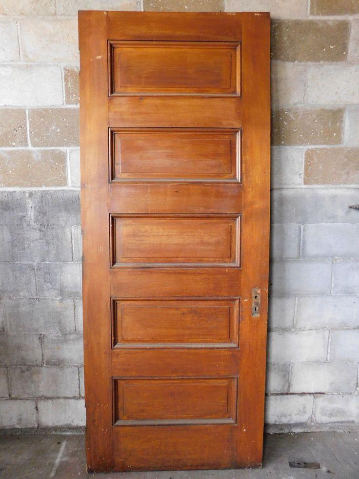 Antique Victorian Interior Door - C. 1885 Butternut Architectural Salvage | Antiques, Architectural & Garden, Doors | eBay!