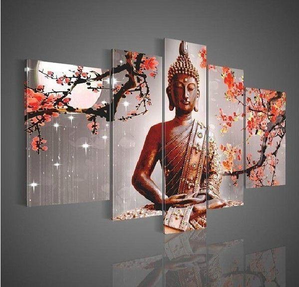 Wall-Art-Religion-Buddha-Oil-Painting-On-Canvas-Modern-Fashion-No ...