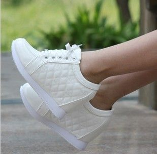 8cm Spring and autumn elevator women sports shoes casual single shoes high heel sneakers High quality